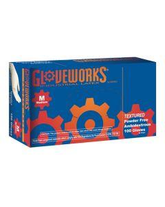 M Gloveworks Powder Free Textured Latex Gloves