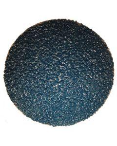 "3"" Blue Zirconia Disc, 24 Grit (25/Box)"