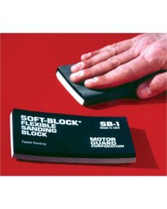 Sanding Block, Soft-Block, Flexible, Double Density, 2 Blocks in One, No Adhesives Necessary