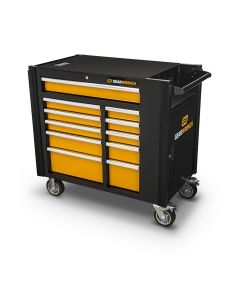 GearWrench 42 in. 11-Drawer Mobile Work Station, Black & Orange