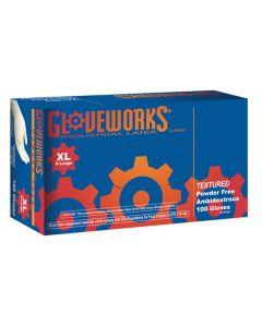 XL Gloveworks Powder Free Textured Latex Gloves