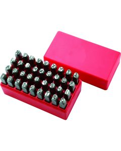 36-pc Number and Letter Steel Hand Stamp Set