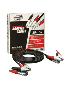 2 Gauge 20' Booster Cables with Parrot-Jaw Clamps