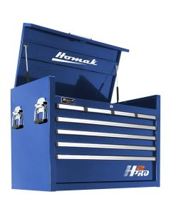 Homak Mfg. H2PRO Series 36 in. 8-Drawer Top Chest, Blue