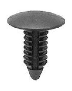 "Black Universal Nylon Shield Retainer, Head Diameter 11/16"" (25/Bag)"