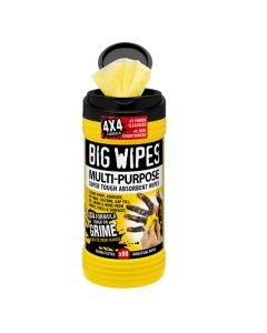 """Case of 8 Big Wipes Multi-Purp Antibacterial Hand Sanitizing Wipes 80 Count (8""""x11.5"""" wipe)"""