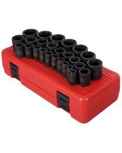 Sunex Tools 26-Piece 1/2 in. Drive Metric Impact Socket Set
