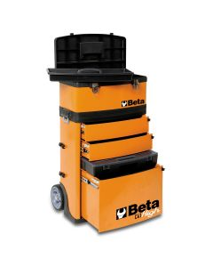 Two-Module Tool Trolley, Orange