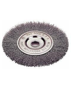 """Crimped Type Wheel Brush, 4"""" Diameter"""