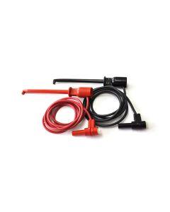 "Macro-Hook XJL to Right Angle Insulated Banana Plug, 48"" Test Lead Set"