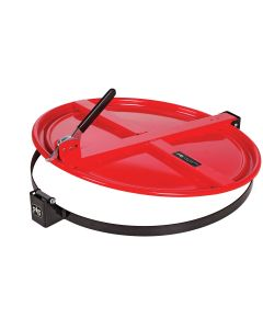 Latching Drum Lid for 55 Gallon Drum, Red