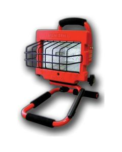 Bayco Halogen Work Light, 500 Watt, 5 ft. 18/3 Cord, w/ Tempered Glass, Metal Safety Guard, Red