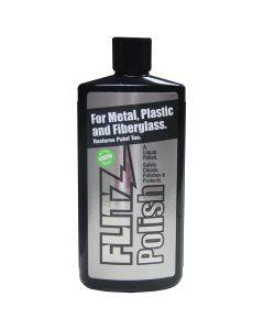 Green Metal, Plastic and Fiberglass Polish Liquid, 7.6 oz. Bottle