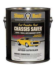 Chassis Saver Paint, Stops and Prevents Rust, Satin Black, 1 Gallon Can