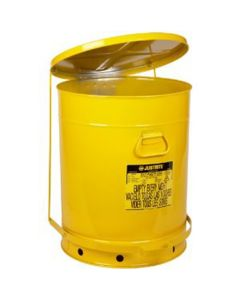 21 Gallon Oily Waste Can With Foot Lever, Yellow