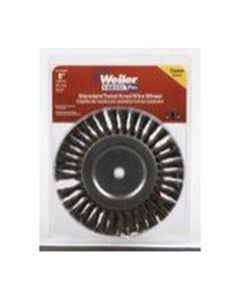 """Bench Grinder Wire Wheel, 8"""" Diameter, Coarse Knotted Wire, Wide Face, 5/8"""" Arbor"""