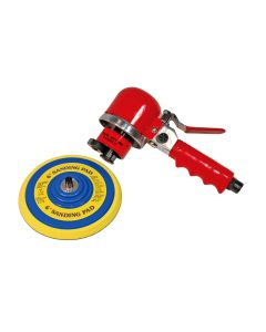"6"" Pad x 8-1/4"" Long Horizontal Air Sander with 10,000 RPM and 4CFM"