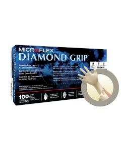 MICROFLEX Diamond Grip MF-300 Latex Gloves, Size M