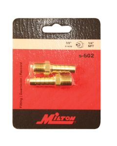 Male Brass Hose End 3/8in. ID Hose x 1/4in. NPT
