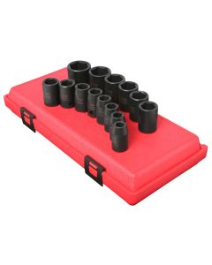 14-Piece 1/2 in. Drive 6-Point Standard Metric Impact Socket Set