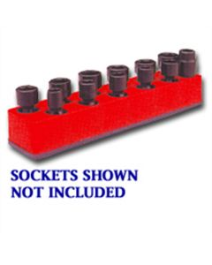 3/8 in. Drive Universal Red 11 Hole Impact Socket Holder 9-19mm