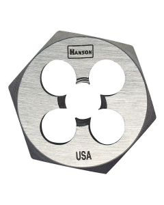 "High Carbon Steel Hexagon 1"" Across Flat Die 5/16""-24 NF"