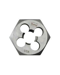 "High Carbon Steel Hexagon 1"" Across Flat Die 3/8""-24 NF"