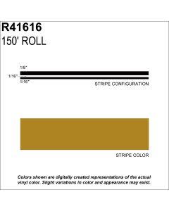 "MS, 1/4"" X 150'; Gold Metallic"