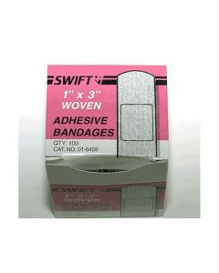 "First Aid Bandaids 1"" x 3"" Woven Strip Adhesive Bandage (100 Per Box)"