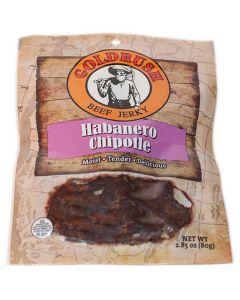 GOLDRUSH Habanero Chopotle 2.85 oz. Beef Jerky (12-Count Case)