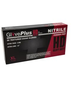 XL GlovePlus HD PF, Textured, Extra Long Nitrile