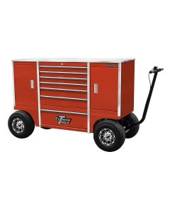 """70"""" 7 Drawer/2 Compartment Pit Box, Red"""