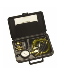 Multi-Port Fuel Injector Pressure Tester System with Quick Couplers for Domestic and Foreign Vehicles in a Molded Plastic Case