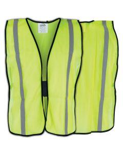 Basic Yellow Safety Vest w/ Reflective Tape