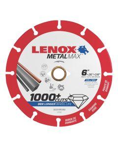 "LENOX Metal Max Diamond Cutoff Wheel 6"" x 5/8"""