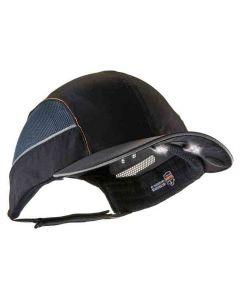 8960 Long Brim Black Bump Cap w/ LED Lighting Technology