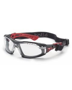 Safety Glasses Rush+ With Foam Kit Plat ASAF Clear Lens