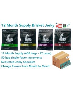 12 Month Qty. of Best Selling Brisket (Flavors of Choice)