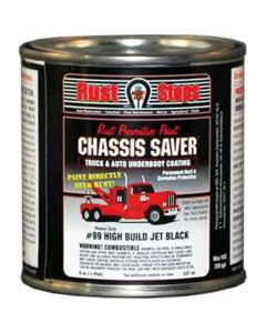 Chassis Saver Paint, Stops and Prevents Rust, Gloss Black, 8 oz Can