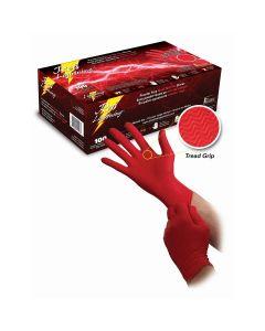 RED LIGHTNING NITRILE GLOVES TREAD GRIP XXL