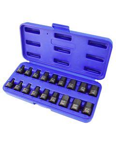 "18PC 3/8"" Drive Nano Hex Sockets -SAE & Metric"