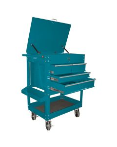 Heavy Duty 4-Drawer Service Cart, Teal