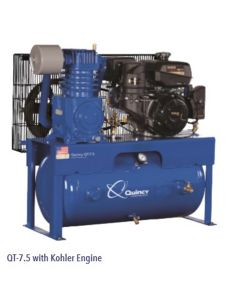 Two-Stage Horizontal Gas Air Compressor (14 HP Kohler), Quincy QT 14-HP 30-Gallon