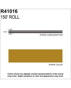 "MS, 3/16"" X 150'; Gold Metallic"