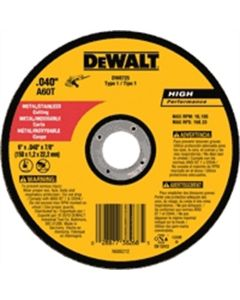 DeWalt 6 in. x .040 in. x 7/8 in. A60T Metal Thin
