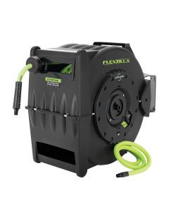 "Flexzilla Retractable Air Hose Reel with Levelwind Technology, 3/8"" x 75'"