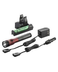 Stinger LED HL Rechargeable Flashlight, AC/DC, PiggyBack Charger, Red, 800 Lumens