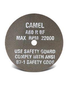 """Camel Premium 3"""" Aluminium Oxide 24-Grit Wheel for Die Grinder, 3/8"""" Arbor,"""