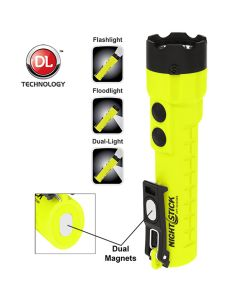 Bayco X-Series Intrinsically Safe Dual-Light Flashlight w/ Dual Magnets