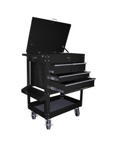 Heavy Duty 4-Drawer Service Cart, Black